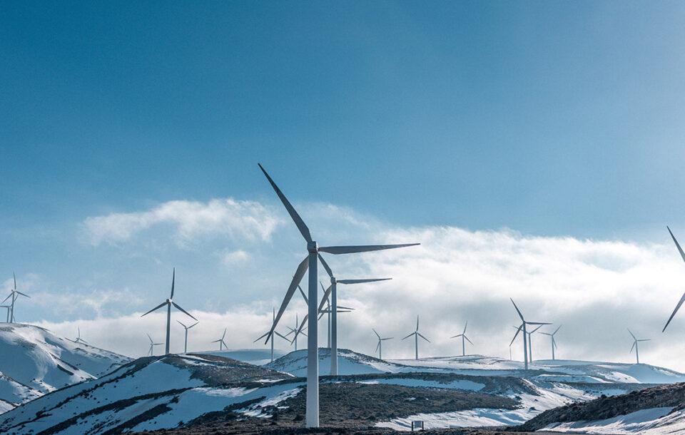 Vindkraftverk vintertid